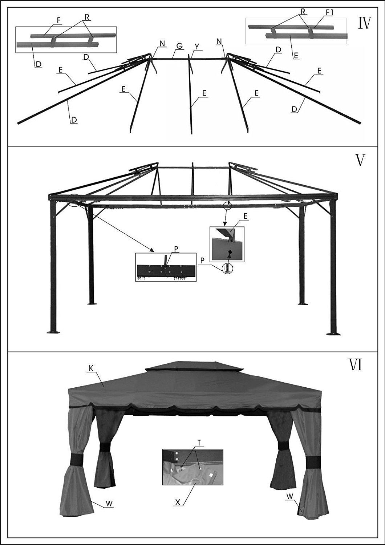 gazebo toile de remplacement 10x10 pour gazebo patio deluxe. Black Bedroom Furniture Sets. Home Design Ideas