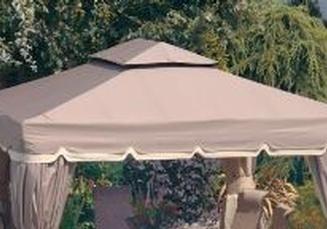 gazebo toile de remplacement 10x10 pour gazebo bellagio. Black Bedroom Furniture Sets. Home Design Ideas