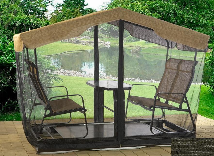 Balancoires de jardin moustiquaire de balan oire 4 places for Canadian tire piscine hors terre