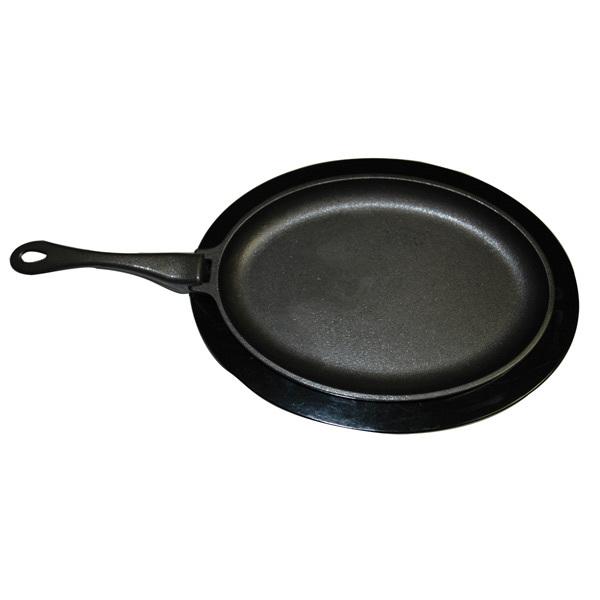 Accessoires de cuisson po le frire en fonte avec sous for Nettoyer poele en fonte